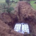 Vandens minkštinimo filtro kanalizuojamo vandens sprendimas;Našumas:5,0 m3/h;Vieta: Molėtų raj.;Ypatybės: 4 namų kaimo turizmas.